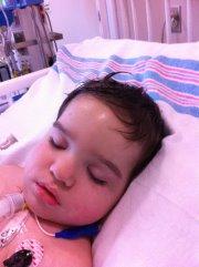 Robot Boy after his tracheostomy and g-tube surgeries. Source: http://doodlesrobotboy.wordpress.com